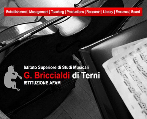 Istituto Superiore di Studi Musicali G.Briccialdi di Terni - una Scuola di Musica prestigiosa che fa parte di AFAM - Alta Formazione Musicale e Coreutica. Galactus Traduzioni ha tradotto il loro sito web in inglese