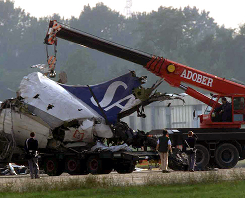 Plane crash at Milan Linate airport in 2001. Galactus Translations translated legal documents and expert surveys regarding claims for compensation made by family members of people affected by the accident.