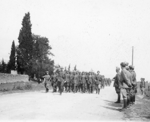 Italian soldiers in Greece